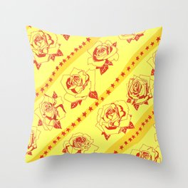 Buy more stock in Roses Throw Pillow