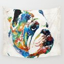 Bulldog Pop Art - How Bout A Kiss - By Sharon Cummings by sharoncummings