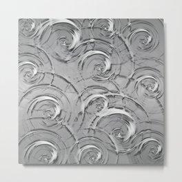 Swirly Metal Print