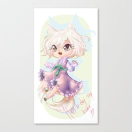 Magical kid Agnes Canvas Print