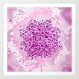 Purple mandala watercolor Art Print