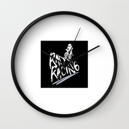 Rad Racing Vintage Wall Clock