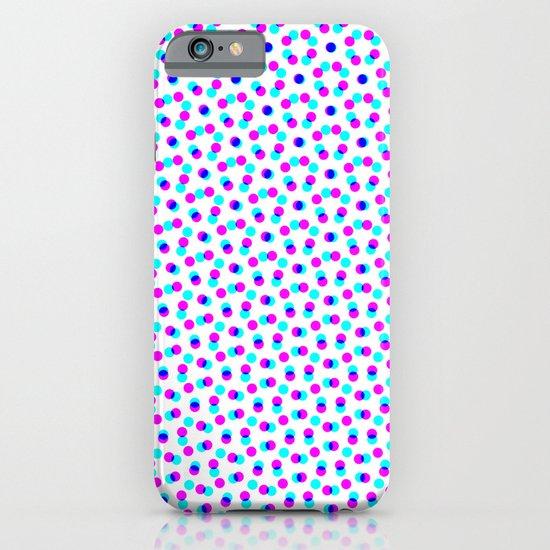 PINK & BLUE DOT iPhone & iPod Case