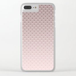 Pink smoky geometric pattern Clear iPhone Case