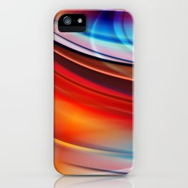 glowing Waves  iPhone Case