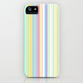 Pastel Rainbow Vertical Stripes iPhone Case