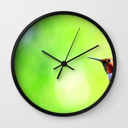 Magnificent Magical Tiny Rain Forest Bird Levitating Zoom UHD Wall Clock