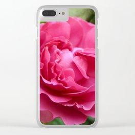 Queen Elizabeth Rose Clear iPhone Case