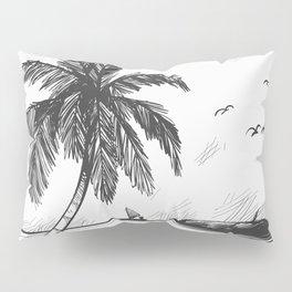 Beach graphic sketch art Pillow Sham