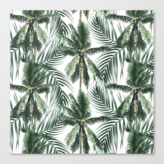 South Pacific palms Canvas Print