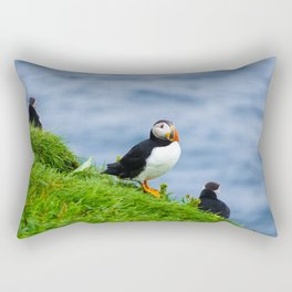 The Puffins of Mykines in the Faroe Islands V Rectangular Pillow
