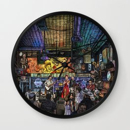 Moonshine and Country Rhymes Wall Clock