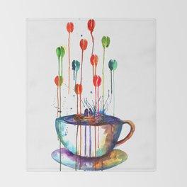 Coffee Splash Throw Blanket