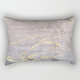 Watercolor Gradient Gold Foil IV Rectangular Pillow