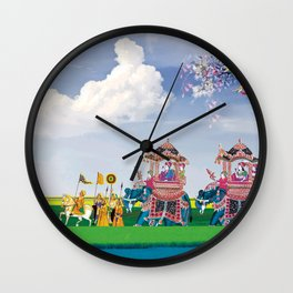 Indian Fusion -Travel in open sky Wall Clock