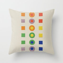 Chevreul Laws of Contrast of Colour, Plate VI, 1860, Remake, vintage wash Throw Pillow