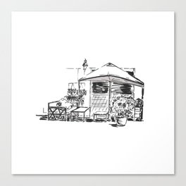 Blacktowhite Sketch Canvas Print