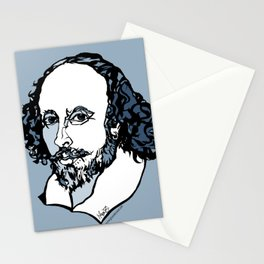William Shakespeare The Bard by Arty Mar Stationery Cards
