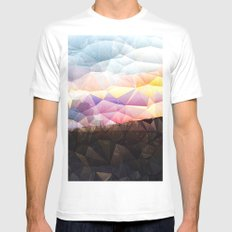 Candy on the Dunes MEDIUM Mens Fitted Tee White