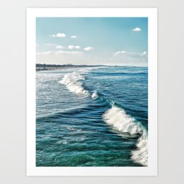 Where the sea is more blue Art Print
