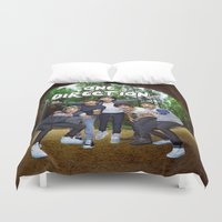 one direction Duvet Covers featuring One Direction by ezmaya