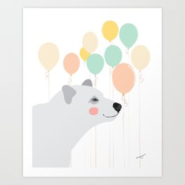 Balloon Bearer Art Print