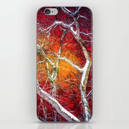Red winter night iPhone Skin