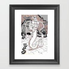 Muckster-cleaning droid Framed Art Print