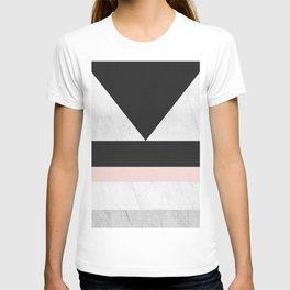 Modern marble geometry V T-shirt