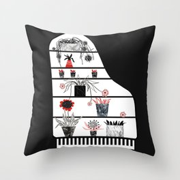 Piano = cupboard Throw Pillow