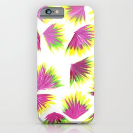 Pink Yellow Green Pop iPhone Case