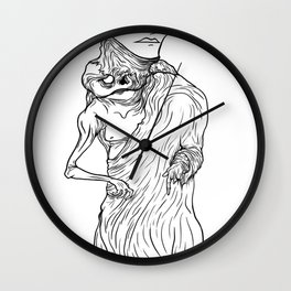 The King of Flesh (Black and White) Wall Clock