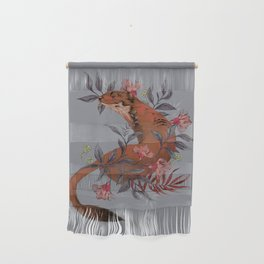 Stoat In Foliage Wall Hanging