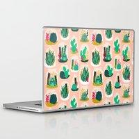 garden Laptop & iPad Skins featuring Terrariums - Cute little planters for succulents in repeat pattern by Andrea Lauren by Andrea Lauren Design