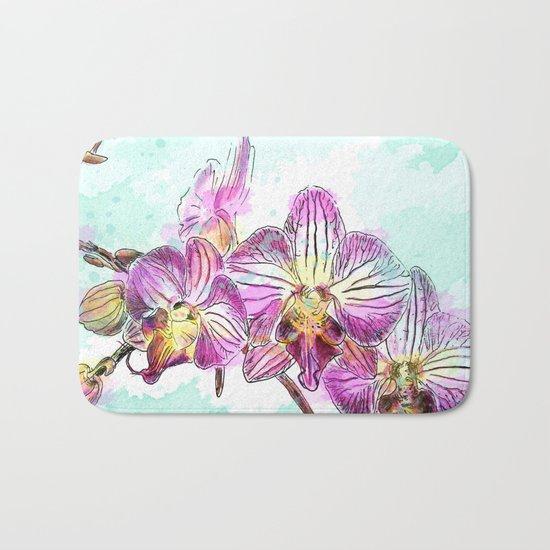 Orchids 02 Bath Mat