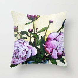Flowers on the drawer Throw Pillow