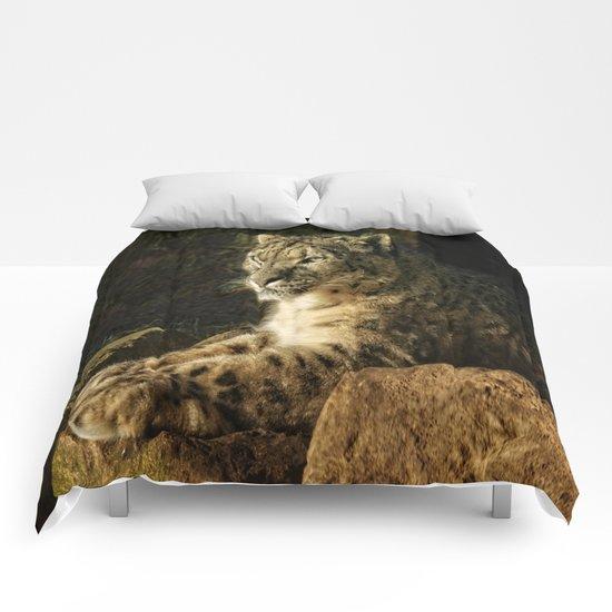 Endangered Snow Leopard Comforters