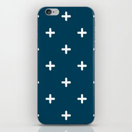 White Crosses on Deep Teal iPhone Skin