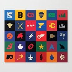 Minimalist Hockey Canvas Print