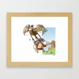 Dorothy, Monkeys and Picnic Baskets Framed Art Print
