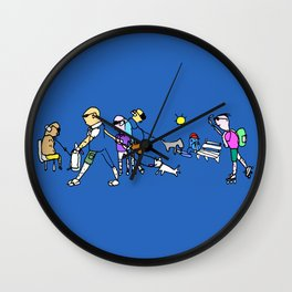 A Walk in the Park Wall Clock