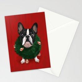 Christmas Bulldog Stationery Cards
