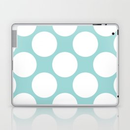 Polka Dots Blue Laptop & iPad Skin