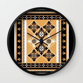 Thundu kunaa (black and yellow) Wall Clock