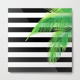 Simply Tropical Stripes Metal Print