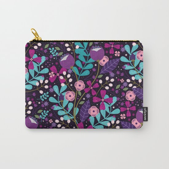 Starlight Blooms Carry-All Pouch