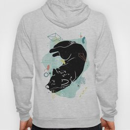 Dreaming wolf illustration Hoody