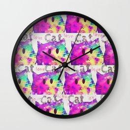cat-355 Wall Clock