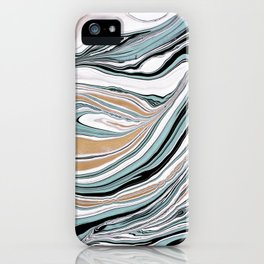 Teal Scape iPhone Case