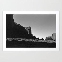 Hidden Skull in Monument Valley Art Print